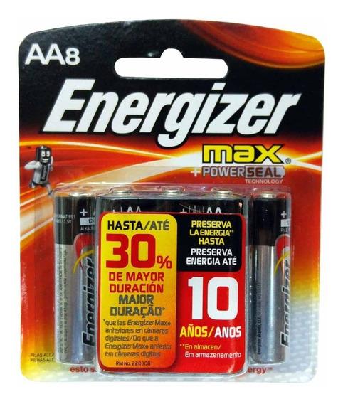 Pilha Alcalina Energizer Max Aa Pequena 40 Unidades