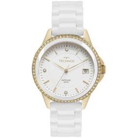 Relógio Technos Feminino Cerâmica Branco 2315kzs/4b