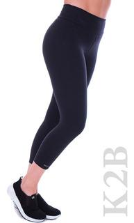 Calça Legging Capri K2b Cós Alto 7cm Feminina