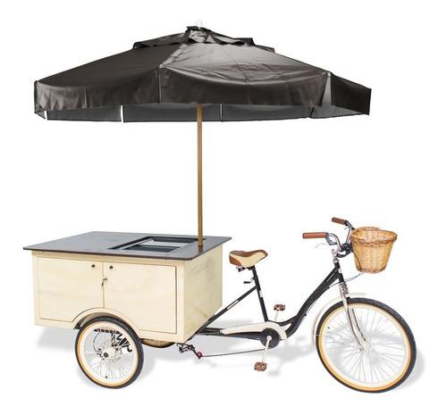 Food Bike Trike Caixa Térmica Acoplada 100% Idêntica A Foto