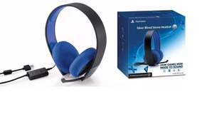 Headset Original Sony 7.1 Silver Wired Stereo