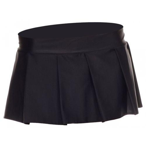 Plisado Falda Mini Color Sólido Adulto Mujer