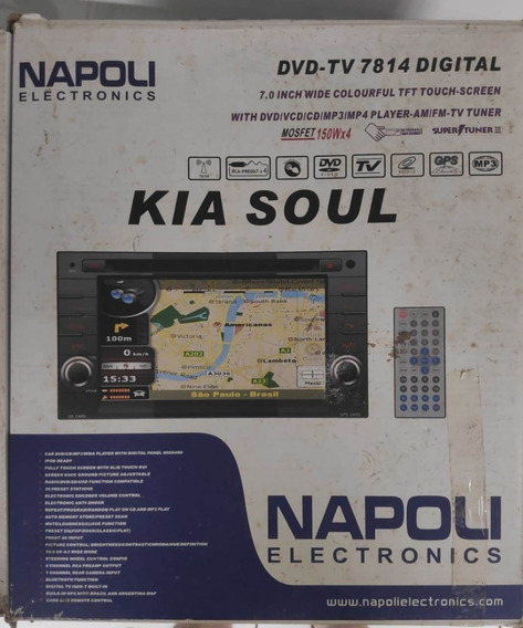 Central Multimidia Napoli 7814 Gps Kia Soul