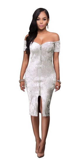 Vestido Corto Fiesta Forever21 Pana Blanca Escotado Sexy