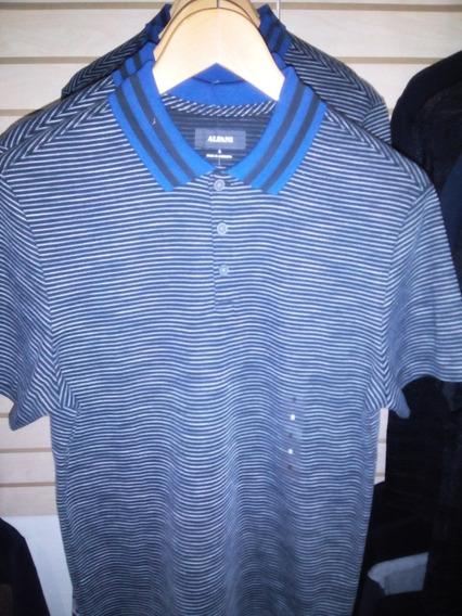 Polo Alfani Rayada Cuello Azul