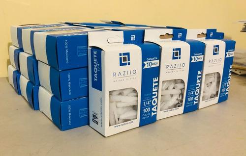 Imagen 1 de 8 de Taquetes Plástico Raziio Kit Surtido 50 Cajas Individuales