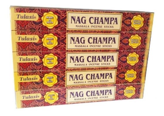 Incenso Tulasi Massala Nag Champa Pacote Com 25 Caixas
