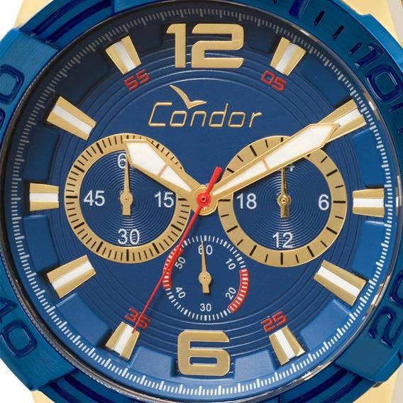 Relógio Cronógrafo Masculino Condor Dourado Covd54aa/4a Orig
