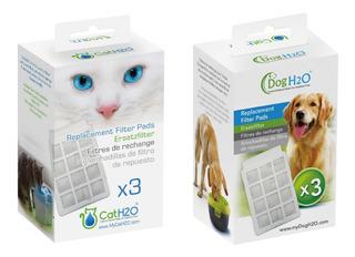 Kit 3 Cajas De Filtros Para Fuente De Agua Cat&dog H20