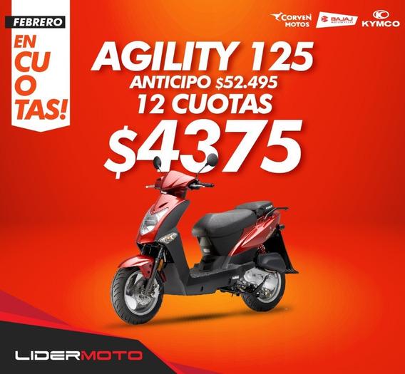 Moto Scooter Kymco Agility 125 - 0km -nuevo En Lidermoto