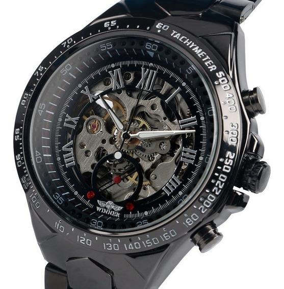 Reloj Skeleton Mecanico Automatico Big Gmt886-1 Envio Gratis