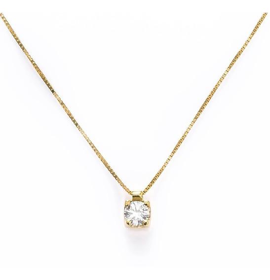 Pingente Cálice De Ouro 18 K E Diamantes