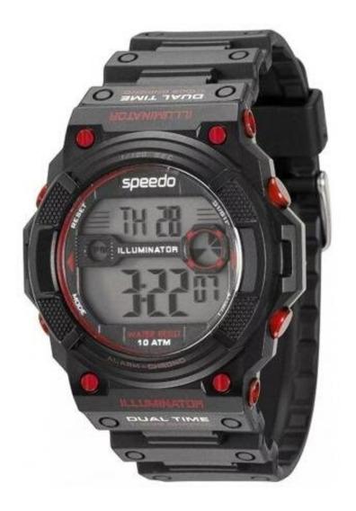 Relógio Masculino Digital Esportivo Speedo 80570g0ebnp2 +nf