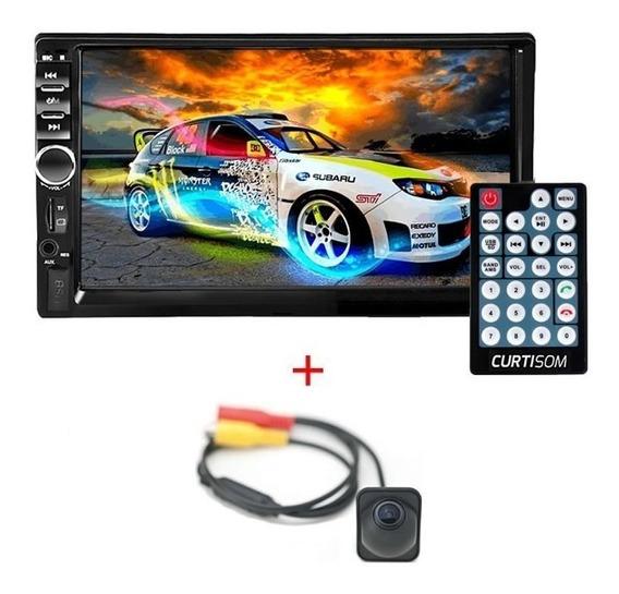 Auto Radio Mp3 Mp5 Mp4 2 Din Bluetooth Usb E Câmera Ré Espelhamento Mirror Ios Apple Android Google
