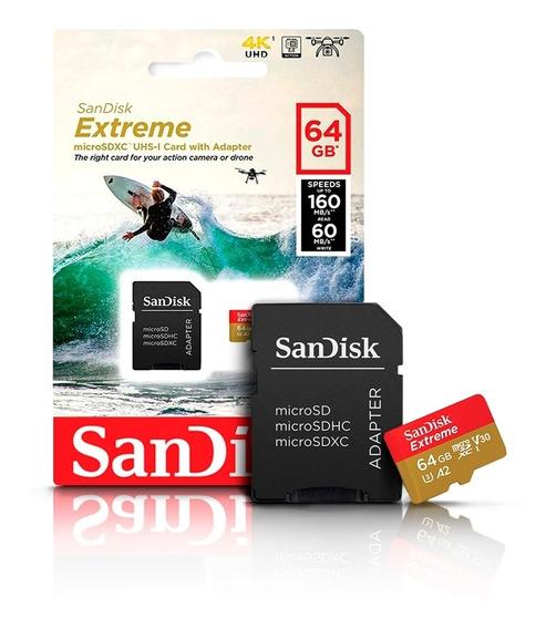 Cartão De Memoria 64gb Extreme Sdsqxa2 Sandisk