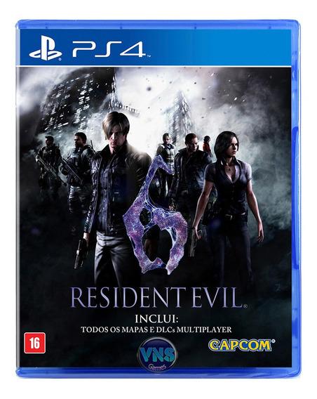 Resident Evil 6 - Ps4 - Legendas Pt - Mídia Física - Lacrado