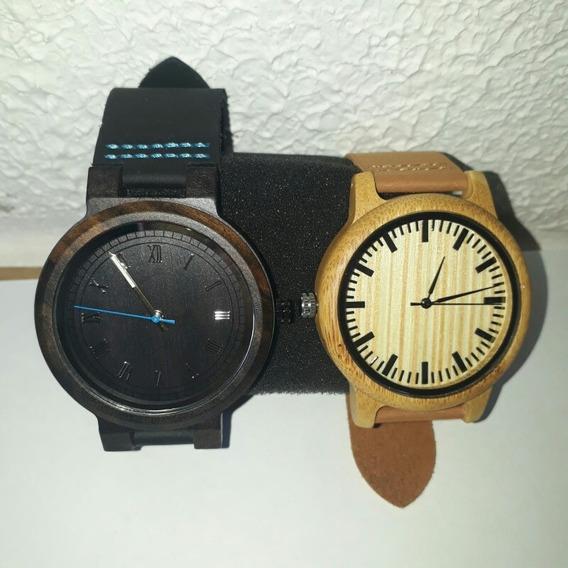 Kit 2 Relógios Bobo Bird Feminino Madeira Ecológica