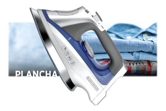 Plancha C/cerámica Deslizante 33% + Vapor Black+decker D3025