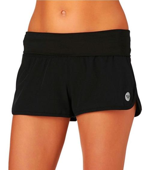 Shorts Mujer Longitud Corta Cinturón Tela Negro Liso Roxy