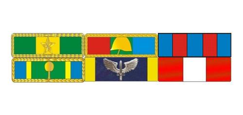 Imagem 1 de 3 de Placa Com 6 Barretas De Medalhas - Fixação Por Imã