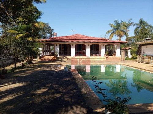 Imagem 1 de 10 de Casa Com 4 Dormitórios, 360 M² - Venda Por R$ 1.300.000,00 Ou Aluguel Por R$ 6.000,00/mês - Jardim Santa Paula - Cotia/sp - Ca1434