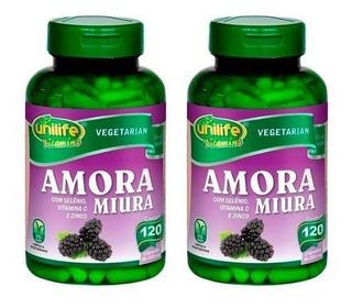 Kit 2 - Amora Miura Unilife 120 Cápsulas + Brinde