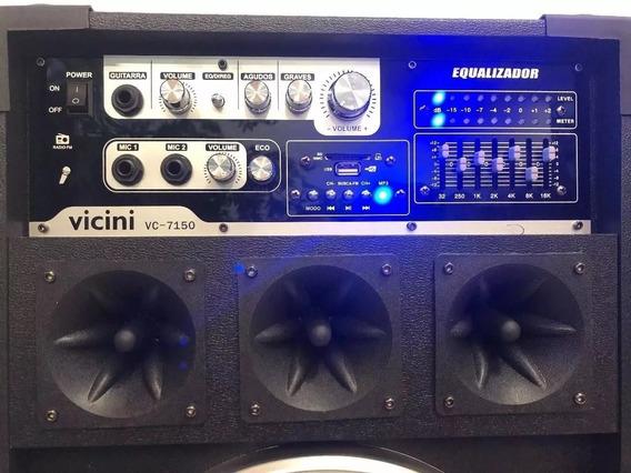 Caixa Som Amplificada Fm Usb Vc- 7150