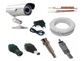 Ligue Na Tv Kit Vigilancia C/ Camera Infra + Cabo E Conector