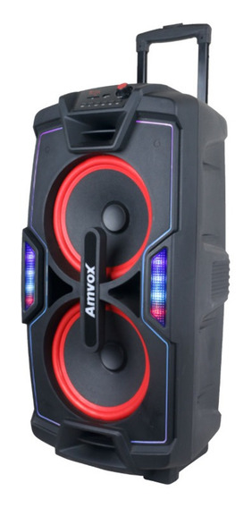 Caixa Amplificada Amvox Recarregável Bluetooth Usb Microsd Auxiliar Bivolt 750w Aca 757 X