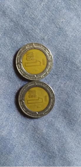 2 Monedas De Pesos Nuevos De 1993 Y 1992