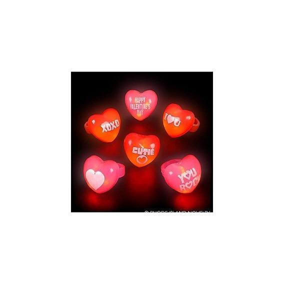 1 Anillos De San Valentín Destellando (24pc / Un)
