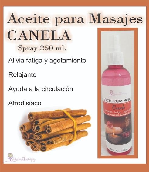 Aceite En Spray Para Masajes De Canela