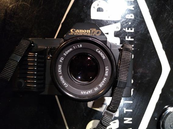 Câmera Fotográfica 35mm Canon T 70 Com Lente 50mm
