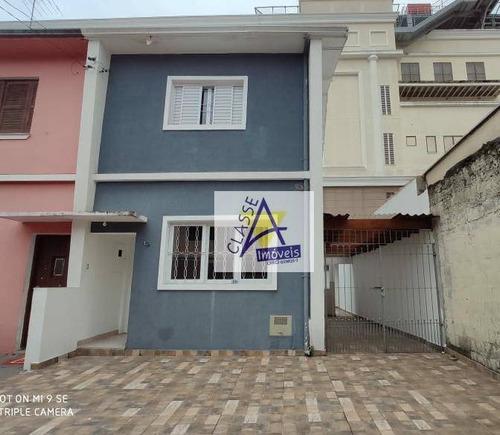 Sobrado Para Alugar, 180 M² Por R$ 2.350,00/mês - Centro - Santo André/sp - So0127