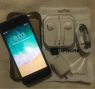 iPhone 5s 16gb (80) Con Cable Cargador Audífono Nuevos Forro