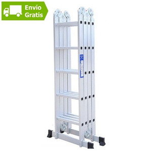 Escalera Aluminio Plegable Multifuncion 5.7 Mts 20 Escalones