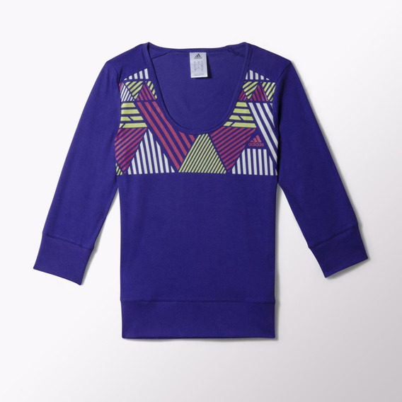 adidas Performance Remera Next Generation 3/4 Mujer Violeta