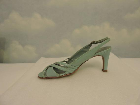 Sandália De Couro Azul - Nº 36 - Usada