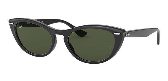Óculos De Sol Gatinho Ray Ban Rb 4314 Nina Original Feminino