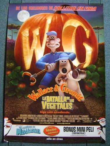 Afiche Cine Original Wallace Y Gromit Animacion Stop Motion