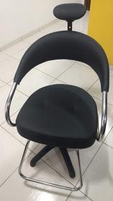Cadeira Para Salão Cabeleireiro Preta, Futura Hidráulica