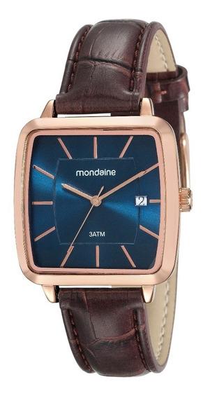 Relógio Mondaine Masculino Calendário Pul Couro 53573gpmvrh2
