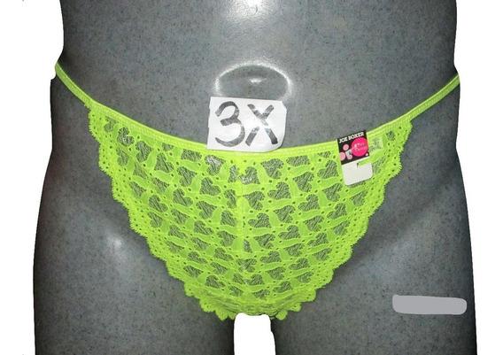 Tangas Neon/plateado Sexy Lenceria En Tallas 3x