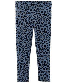 Leggings Carters Nuevos Modelo Azul Leopardo Talla 4