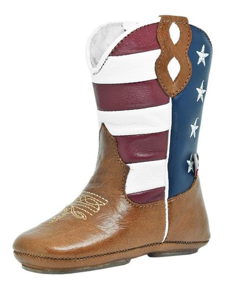 Bota Bebê Cano Bandeira Usa