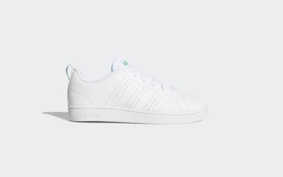 Tenis adidas Joven Blanco Con Verde