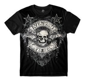 Camisa Camiseta Banda Avenged Sevenfold Rock In Rio Rock