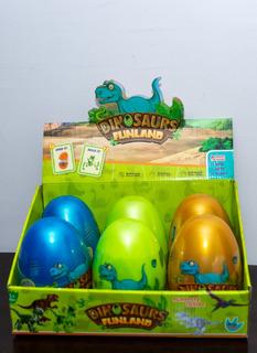 6 Huevos Dinosaurios Sorpresas Gigantes - 17cm