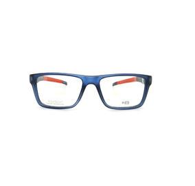 948d9f686 Óculos De Grau Hb93119 737 Azul E Vermelho Lente 5,3 Cm
