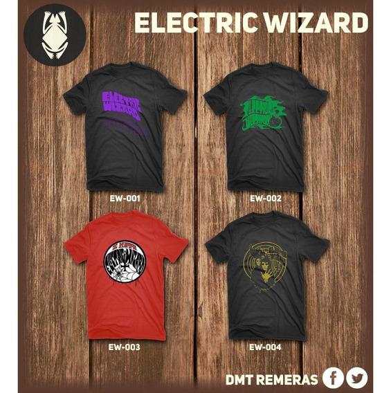 Remeras Electric Wizard - Estampadas Con Vinilo Importado